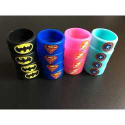 Bague silicone Dc comics 22/10mm