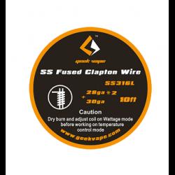 Fil résistif SS Fused Clapton Wire - Geekvape