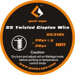 Fil résistifs SS Twisted Clapton Wire - Geek Vape
