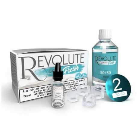 Pack base/booster Fresh 50/50 100ml - Revolute