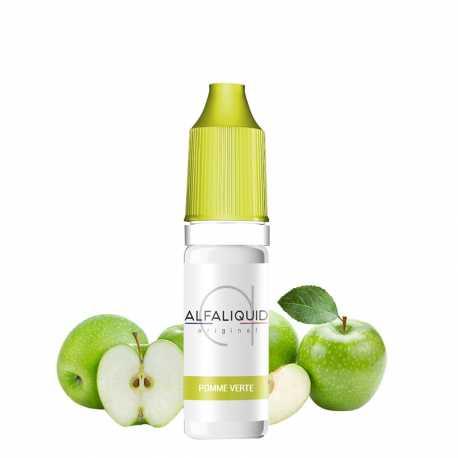 E-Liquid green apple 10ml - Alfaliquid