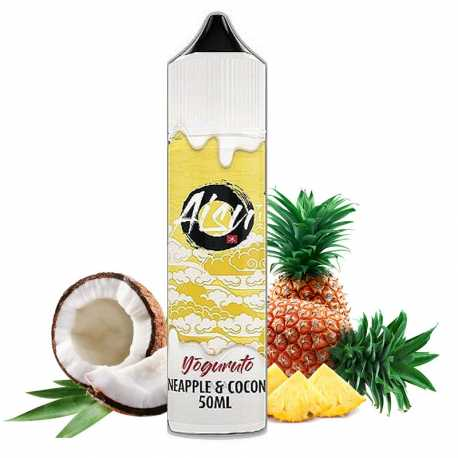 AISU YOGURUTO PINEAPPLE & COCONUT ZERO ICE 50 ML - Zap Juice