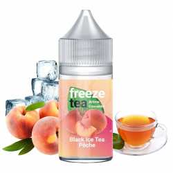 Concentré Black Ice Tea Pêche 30ml Freeze Tea - Made InVape